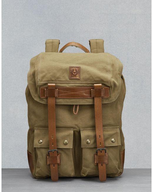 51d52d1b0c6 Belstaff - Natural Colonial Backpack for Men - Lyst ...