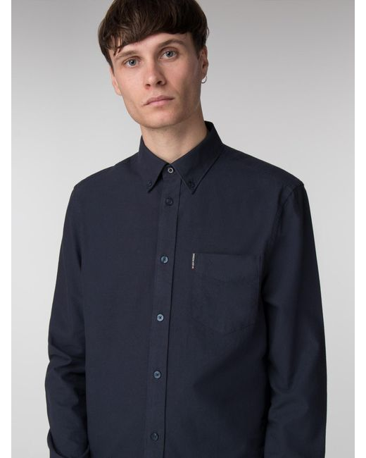 Ben Sherman Blue Long Sleeve Classic Oxford for men