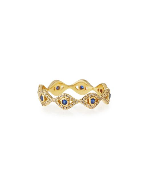Sydney Evan - Metallic Small Evil Eye Eternity Band Ring - Lyst
