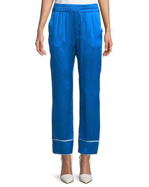Alexis - Blue Coleen Silk Pants - Lyst