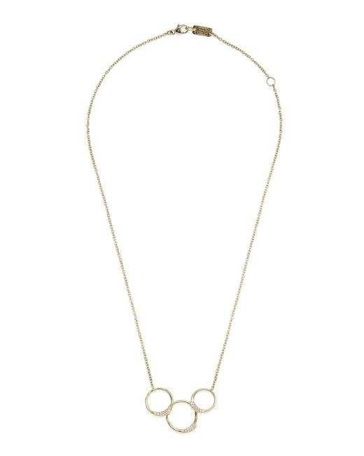 Ippolita - Metallic 18k Stardust Diamond Ring Necklace - Lyst