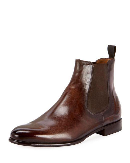 Berluti - Black Men's Scritto Leather Chelsea Boots for Men - Lyst