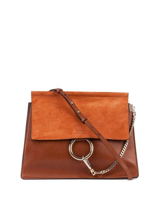 Chloé   Brown Faye Medium Leather/suede Bag   Lyst