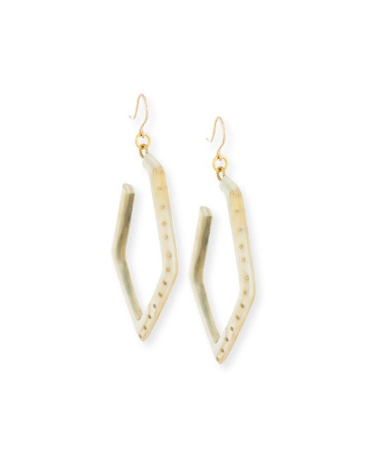Ashley Pittman | Metallic Awali Studded Light Horn Hoop Earrings | Lyst