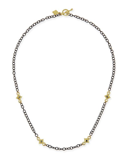 Armenta | Metallic Heraldry Cable Chain Cross Necklace | Lyst