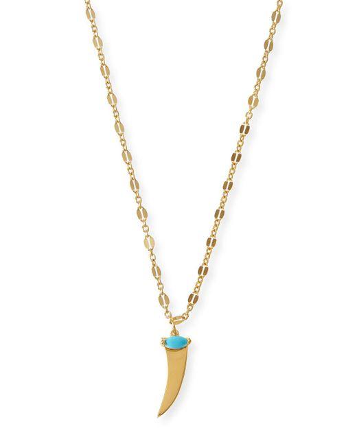 Jennifer Zeuner - Metallic Prudence Turquoise Horn Pendant Necklace - Lyst