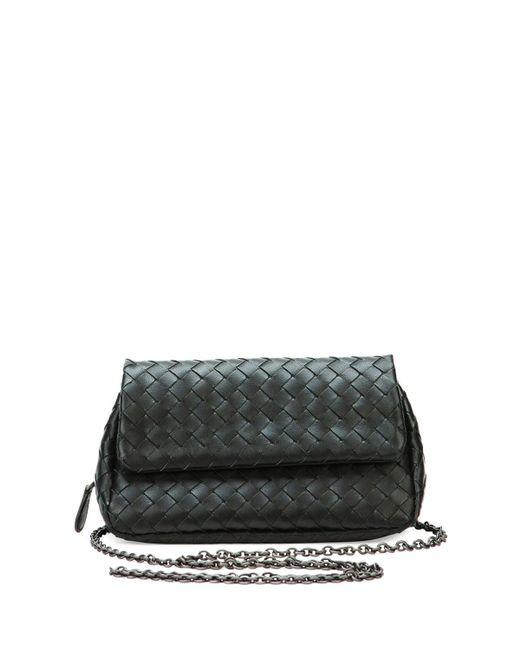 Bottega Veneta - Black Intrecciato Small Chain Crossbody Bag - Lyst ... 4190285fa4756