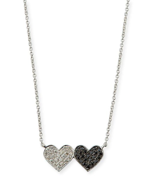 Sydney Evan - Metallic 14k Double Heart Pendant Necklace - Lyst