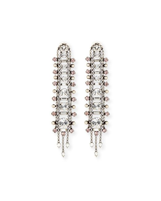 DANNIJO | Metallic Almendra Elongated Crystal Drop Earrings | Lyst