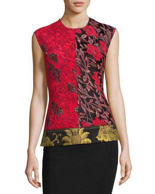 Derek Lam   Multicolor Sleeveless Patchwork Floral Jacquard Top   Lyst