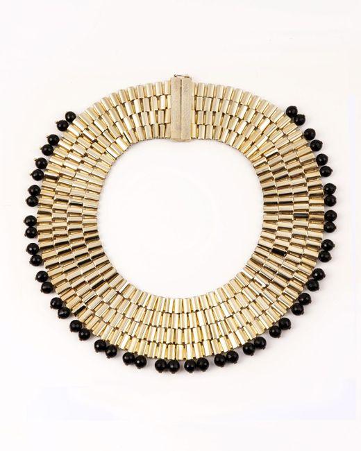Rosantica   Metallic Cleopatra Beaded Collar Necklace   Lyst