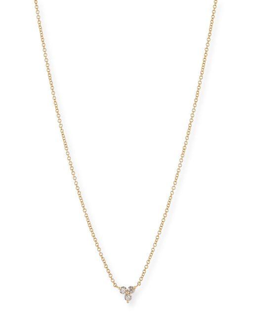 EF Collection - Metallic Diamond Trio Pendant Necklace - Lyst