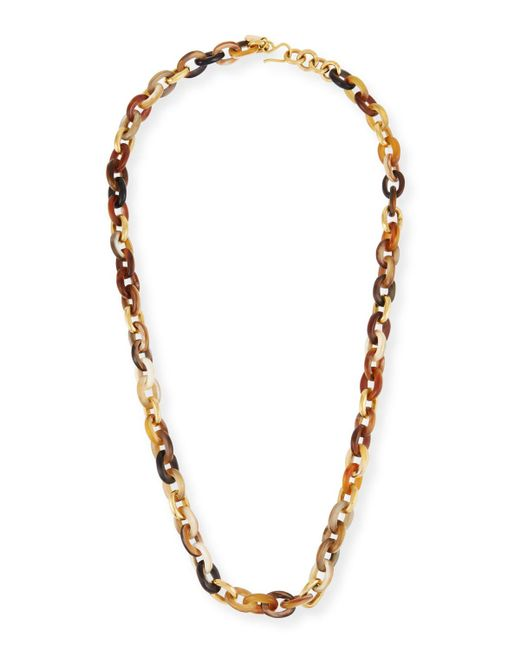 Ashley Pittman - Brown Meli Mixed Horn Link Necklace - Lyst