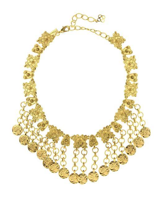 Oscar de la Renta | Metallic Hammered Coin Charm Necklace | Lyst