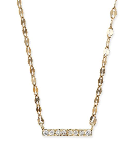 Lana Jewelry - Metallic Diamond Bar Pendant Necklace - Lyst