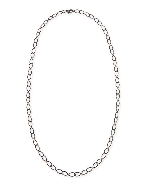 Armenta | Metallic Old World Open Shield Link Necklace | Lyst