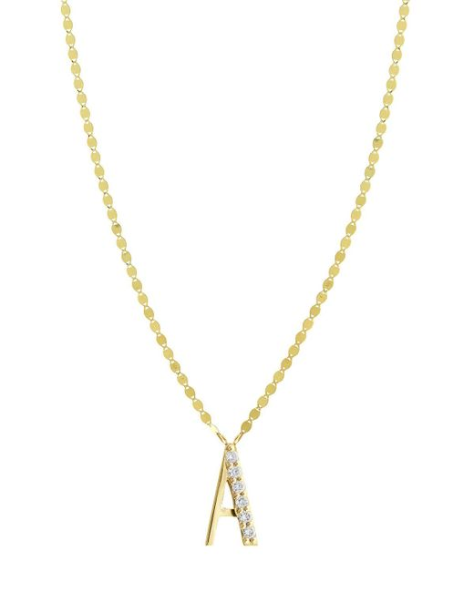 Lana Jewelry - Metallic Get Personal Initial Pendant Necklace With Diamonds - Lyst