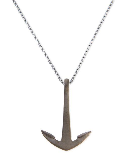 Miansai | Metallic Anchor Pendant Necklace | Lyst
