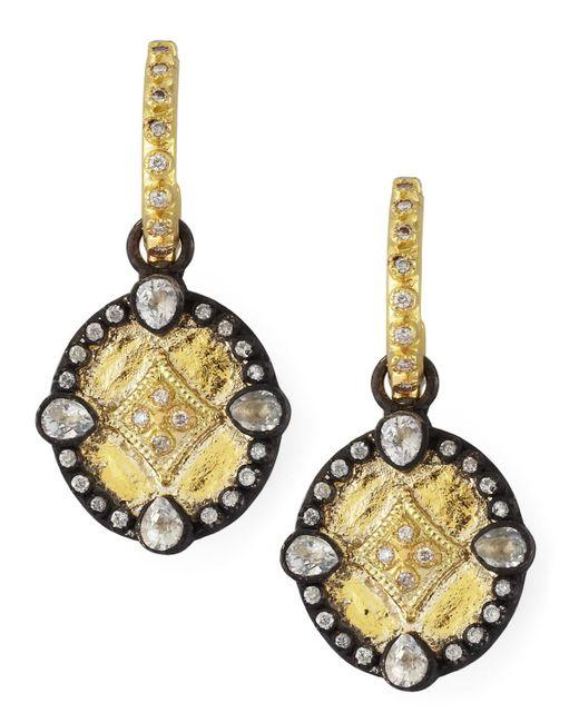 Armenta - Metallic Shield Drop Earrings - Lyst