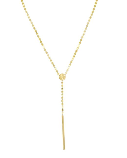 Lana Jewelry - Metallic Nude Bar Lariat Necklace - Lyst