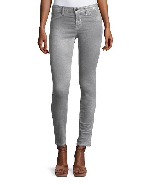 J Brand | Metallic 815 Luxe Velveteen Skinny Pants | Lyst