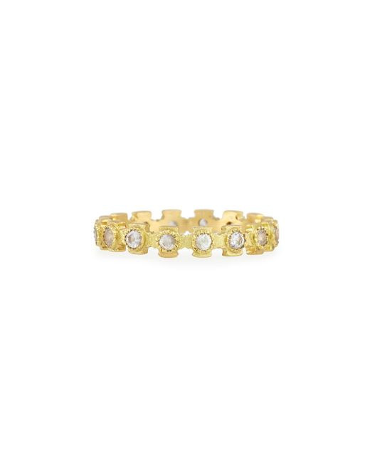 Armenta - Metallic 18k Gold & Sapphire Stackable Cross Ring - Lyst