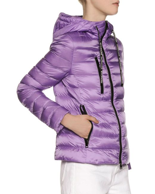 06f04979e Lyst - Moncler Hooded Quilted Shell Down Jacket in Purple - Save 31%