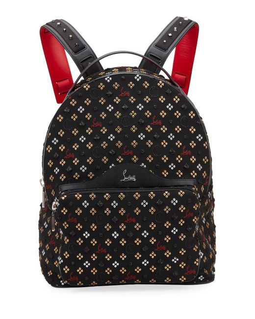 c156b23bc86 Men's Backloubi Metallic Embroidered Backpack