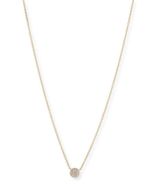 EF Collection - Metallic Diamond Disc Pendant Necklace - Lyst