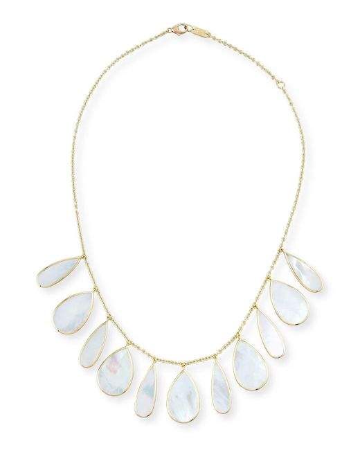 Ippolita | Metallic 18k Polished Rock Candy Pear Necklace In Mother-of-pearl | Lyst