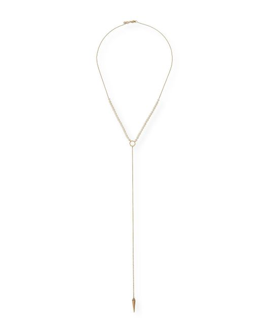 Sydney Evan - Multicolor Pearl-beaded Lariat Necklace - Lyst