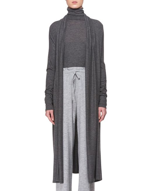 The Row - Gray Renate Open-front Cashmere Cardigan - Lyst