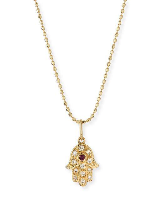 Sydney Evan - Metallic 14k Gold Diamond Hamsa Pendant Necklace - Lyst