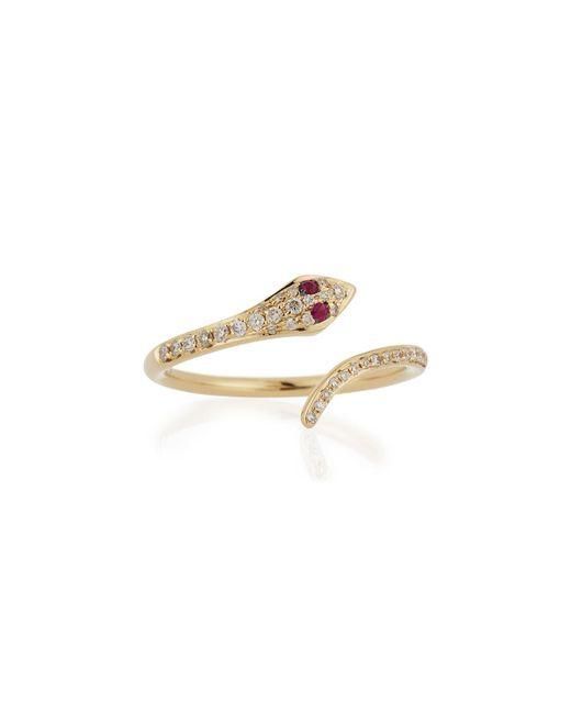 EF Collection - Metallic Diamond Snake Ring - Lyst