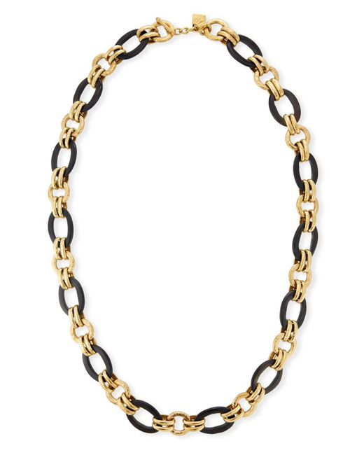 Ashley Pittman | Brown Ikulu Dark Horn & Bronze Chain Necklace | Lyst