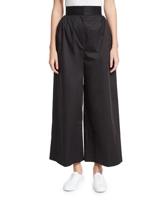 The Row | Black Lado High-waist Wide-leg Pants | Lyst