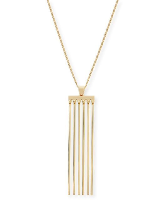 Chloé - Metallic Frances Pendant Necklace - Lyst