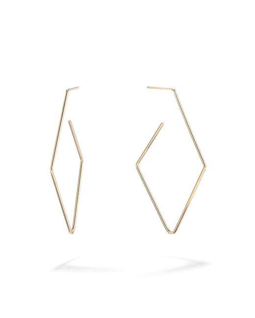 Lana Jewelry - Metallic 14k Gold Diamond-shaped Hoop Earrings - Lyst