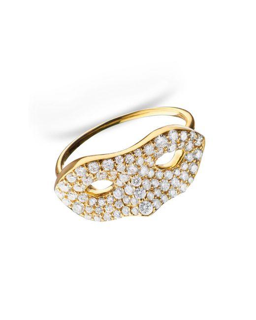 "Monica Rich Kosann - Metallic Unmasked"" Diamond Yellow Gold Ring - Lyst"
