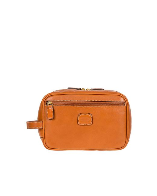 Bric's - Brown Life Pelle Tuscan Leather Shave Case - Lyst