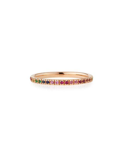 Sydney Evan - Metallic 14k Rose Gold Rainbow Ring - Lyst