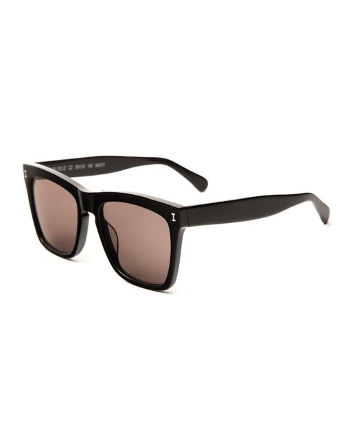Illesteva | Black Square Monochromatic Sunglasses | Lyst