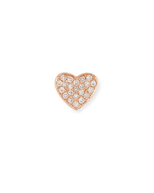 EF Collection - Multicolor Diamond Heart Single Stud Earring - Lyst