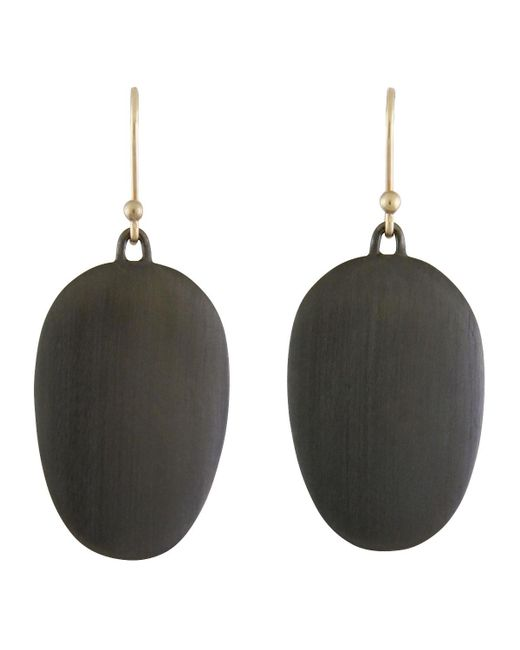 Ted Muehling - Multicolor Large Brushed Gunmetal Chip Earrings - Lyst