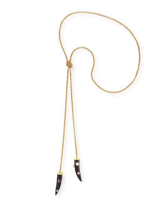 Ashley Pittman - Metallic Upendo Dark Horn Lariat Necklace - Lyst