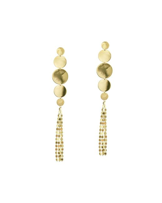 Lana Jewelry - Metallic Large Nude Disc Fringe Earrings - Lyst
