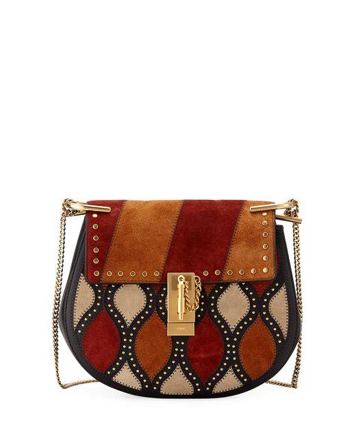 Chloé   Black Drew Small Lambskin Shoulder Bag   Lyst