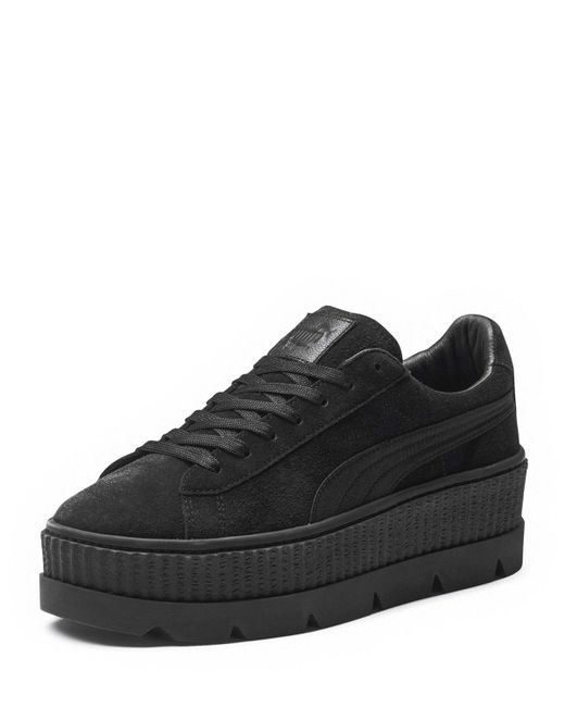PUMA | Black Low-top Suede Cleated Creeper Sneaker | Lyst