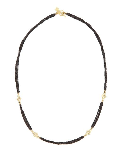 Armenta - Black Multi-chain Diamond Necklace - Lyst