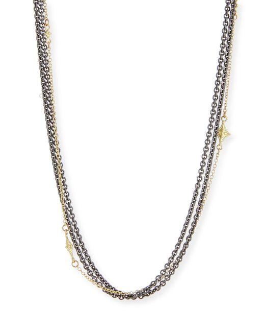 Armenta | Metallic Old World Multi-strand Chain Necklace | Lyst